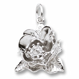 14K White Gold Magnolia Flower Charm by Rembrandt Charms