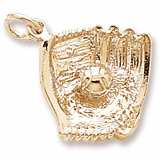 Gold Plated Baseball Glove Charm by Rembrandt Charms