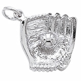 Sterling Silver Baseball Glove Charm by Rembrandt Charms