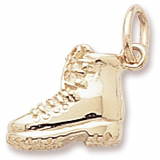 10K Gold Hiking Boot Charm by Rembrandt Charms