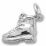 14K White Gold Hiking Boot Charm by Rembrandt Charms