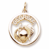 Gold Plate Georgia Peach Charm by Rembrandt Charms