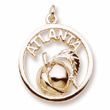 10K Gold Atlanta Peach Charm by Rembrandt Charms
