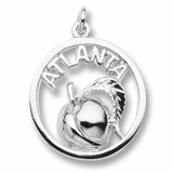 14K White Gold Atlanta Peach Charm by Rembrandt Charms