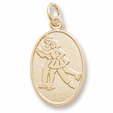 Gold Plated Ice Skaters Charm by Rembrandt Charms