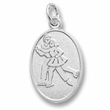 14K White Gold Ice Skaters Charm by Rembrandt Charms