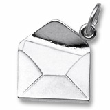 14K White Gold Letter Charm by Rembrandt Charms