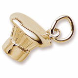 10K Gold Chef's Hat Charm by Rembrandt Charms