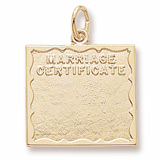 Gold Plated Marriage Certificate Charm by Rembrandt Charms