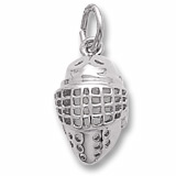 14K White Gold Hockey Goalie Mask Charm by Rembrandt Charms
