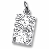 14K White Gold Tarot Card Charm by Rembrandt Charms
