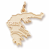 10K Gold Greece Charm by Rembrandt Charms