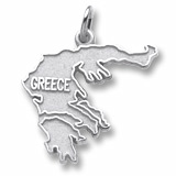 14K White Gold Greece Charm by Rembrandt Charms
