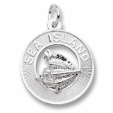 14K White Gold Sea Island Charm by Rembrandt Charms