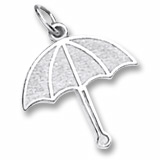14K White Gold Umbrella Charm by Rembrandt Charms