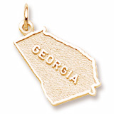 Gold Plated Georgia Charm by Rembrandt Charms