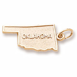 Gold Plated Oklahoma Charm by Rembrandt Charms