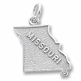 14K White Gold Missouri Charm by Rembrandt Charms