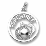 14K White Gold Georgia Peachtree Charm by Rembrandt Charms