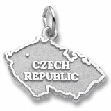 14K White Gold Czech Republic Charm by Rembrandt Charms