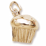 Gold Plate Muffin Charm by Rembrandt Charms