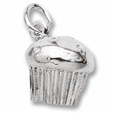 14K White Gold Muffin Charm by Rembrandt Charms