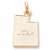 10K Gold Utah Charm by Rembrandt Charms