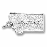 14K White Gold Montana Charm by Rembrandt Charms