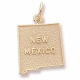 10K Gold New Mexico Charm by Rembrandt Charms