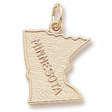Gold Plated Minnesota Charm by Rembrandt Charms