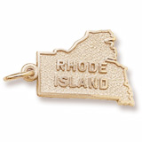 Gold Plated Rhode Island Charm by Rembrandt Charms