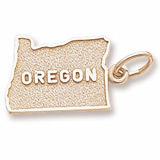 10K Gold Oregon Charm by Rembrandt Charms