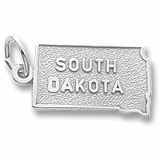 Sterling Silver South Dakota Charm by Rembrandt Charms