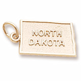 Gold Plated North Dakota Charm by Rembrandt Charms