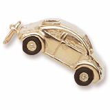 Gold Plated Volkswagen Beetle Charm by Rembrandt Charms