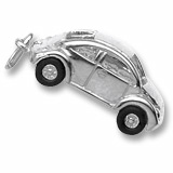 14K White Gold Volkswagen Beetle Charm by Rembrandt Charms