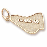 Gold Plated Barbados Map Charm by Rembrandt Charms
