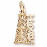 10K Gold Texas Oil Derrick Charm by Rembrandt Charms