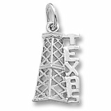 14K White Gold Texas Oil Derrick Charm by Rembrandt Charms