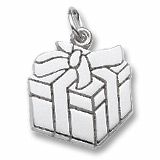 14k White Gold Gift Box Charm by Rembrandt Charms