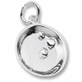 14K White Gold Mining for Gold Pan Charm by Rembrandt Charms