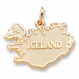 10K Gold Iceland Charm by Rembrandt Charms