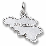 14K White Gold Belgium Charm by Rembrandt Charms