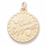 Gold Plated Our Engagement Charm by Rembrandt Charms
