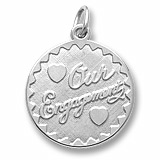 14K White Gold Our Engagement Charm by Rembrandt Charms