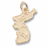 10K Gold Korea Map Charm by Rembrandt Charms
