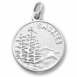 14K White Gold Smokies Mountain Charm by Rembrandt Charms