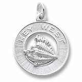 Sterling Silver Key West Conch Shell Ring Charm by Rembrandt Charms
