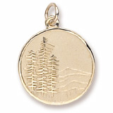 Gold Plated Mountain Scene Charm by Rembrandt Charms