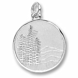 Sterling Silver Mountain Scene Charm by Rembrandt Charms